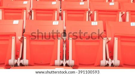 Seats in sport stadium - stock photo