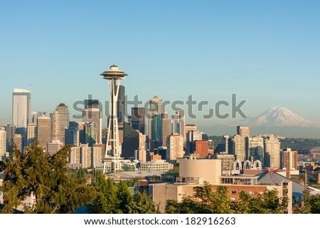 Seattle Daytime - stock photo