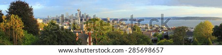 Seattle is a coastal seaport city and the seat of King County, in the U.S. state of Washington. - stock photo
