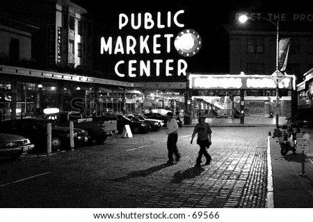 Seattle's Public Market - stock photo