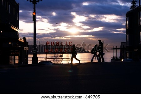 Seattle Silhouttes - stock photo