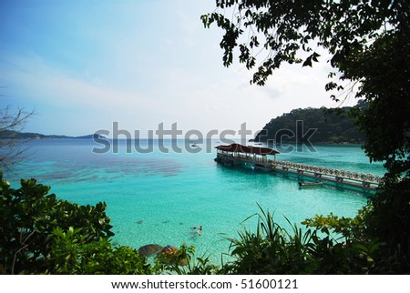 seaview - stock photo