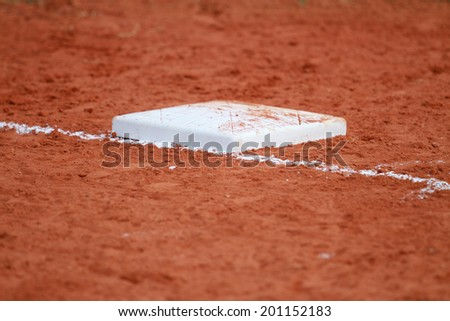 Second Base on the field  - stock photo