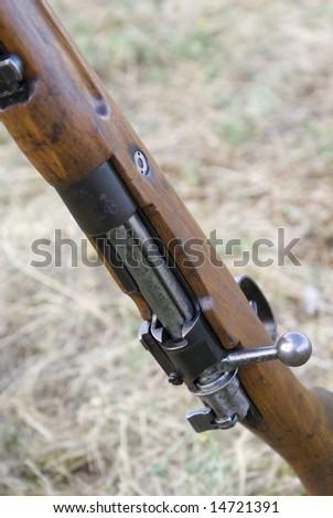 Second World War firearm - stock photo