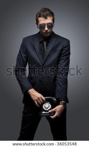 Secret call - stock photo