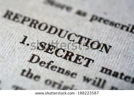 Secret document - stock photo