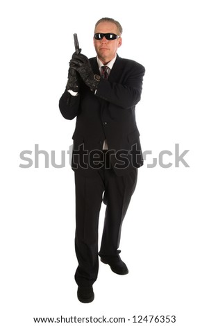 Secret service agent. - stock photo