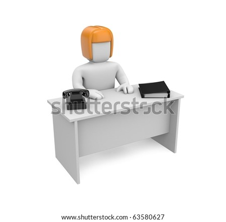 Secretary - stock photo
