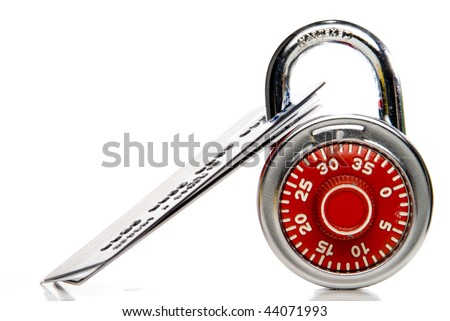 Secure Credit Cards - stock photo