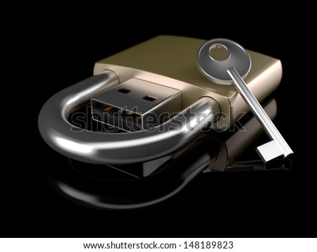 Secure Data Drive - stock photo