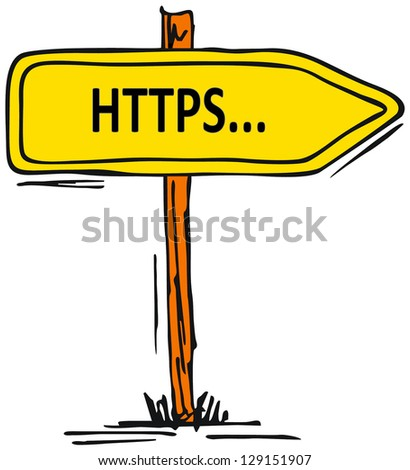 secured web address - stock photo