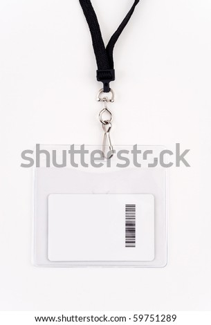 Security Access Card in Lanyard - stock photo