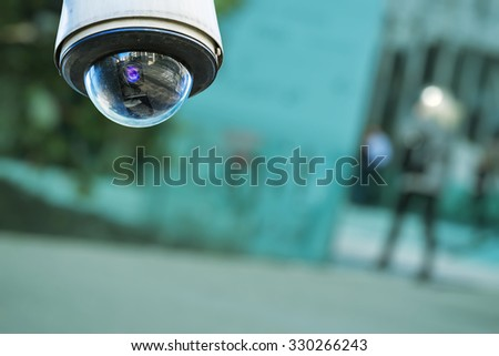 security camera and urban video - stock photo