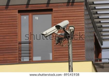 security camera - cctv - stock photo