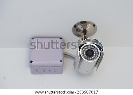 Security Camera,CCTV Camera - stock photo