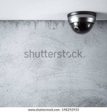 Security Camera in interior - stock photo