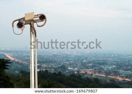 Security Camera or CCTV. - stock photo