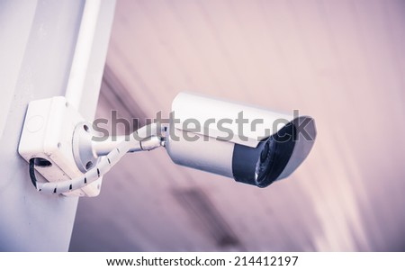 Security cameras for the safety retro filter effect  - stock photo