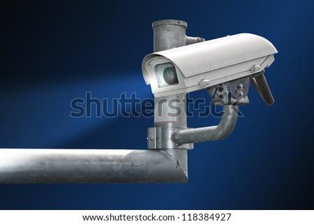 security cctv camera - stock photo