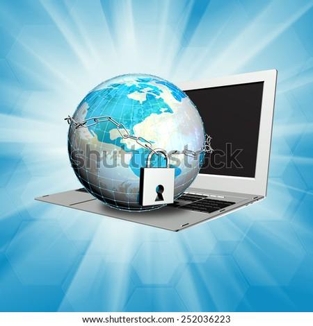 Security computer internet technologies - stock photo