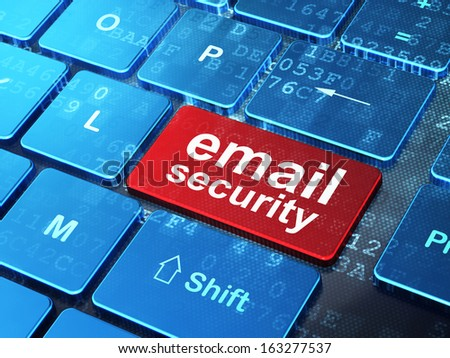 Security concept: computer keyboard with word Email Security on enter button background, 3d render - stock photo