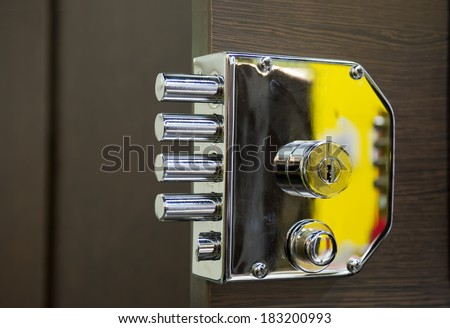 Security door lock - stock photo