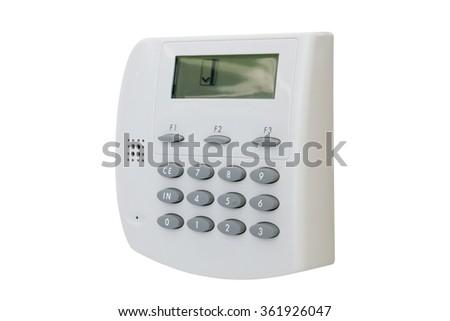security door machine isolated - stock photo