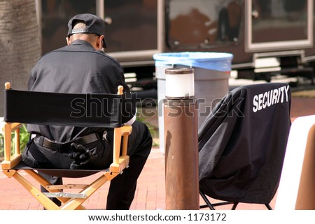 security guard - stock photo