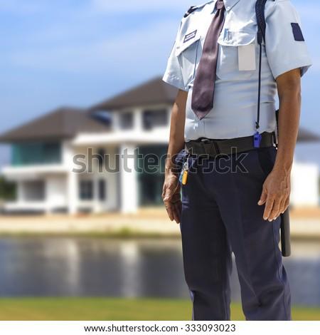 Security guard - stock photo