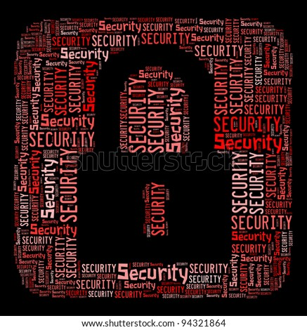 Security info text design and arrangement concept. - stock photo