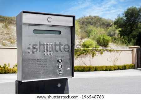 Security Intercom used for a gated community. - stock photo