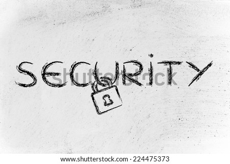 security of data, privacy and personal information on the web - stock photo