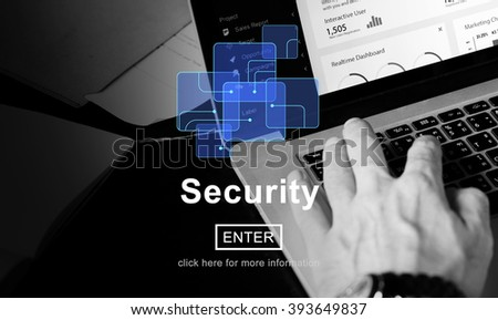 Security Privacy Safety Protection Secrecy Concept - stock photo