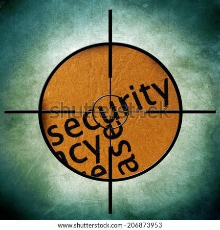 Security target - stock photo
