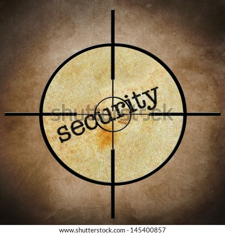 Security target concept - stock photo