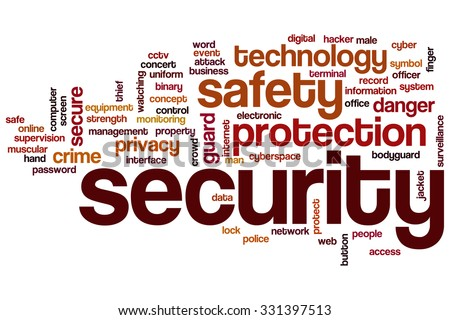 Security word cloud - stock photo