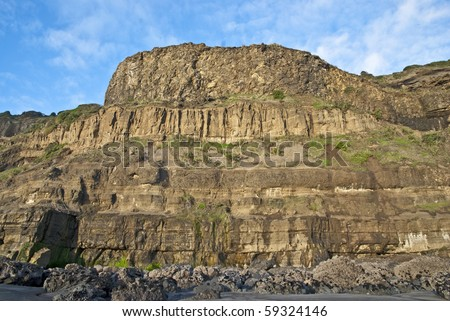Sedimentary formations of geological interest - stock photo