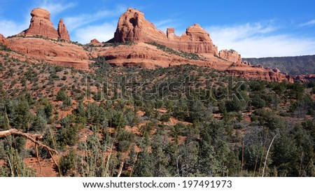 Sedona, Arizona is one of the most beautiful places in the U.S. Red Rock State Park is just one of the incredible places to visit there. - stock photo