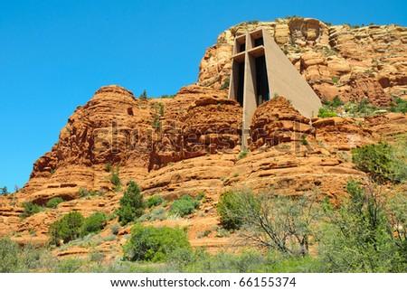 Sedona Chapel of the Holy Cross - stock photo