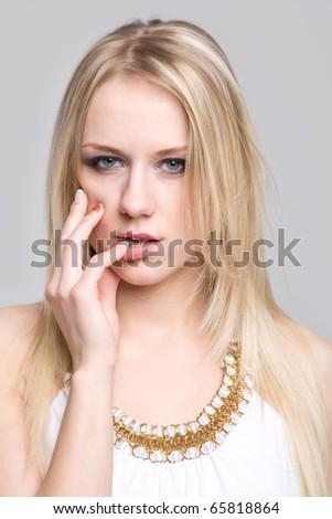 Seductive girl - stock photo