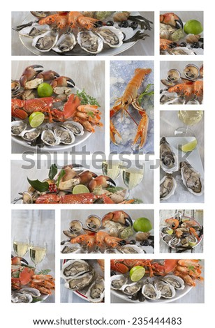 See food , seafood platter - stock photo