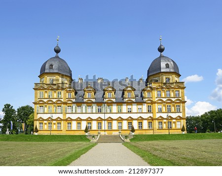Seehof Palace and Park - the summer residence of the prince-bishops of Bamberg, Upper Franconia, Bavaria, Germany. - stock photo