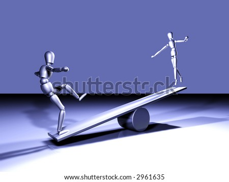 Seesawing - stock photo