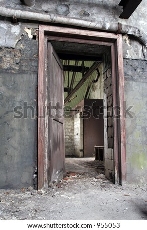 seethrough inside mine - stock photo