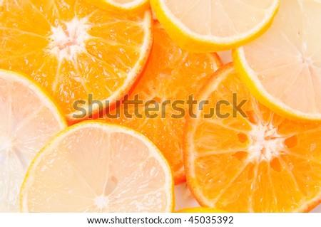 Segments of fruit - stock photo