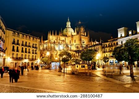 Segovia Cathedral, Spain - stock photo