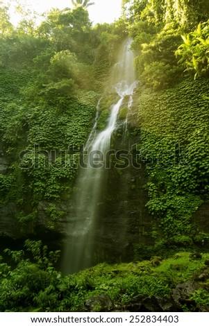 Sekumpul Waterfalls in Bali, Indonesia - stock photo