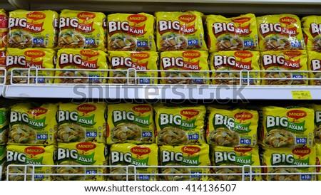 SELANGOR, MALAYSIA - 29 April, 2016: Product of Maggi inside hypermarket in Bangi, Selangor. - stock photo