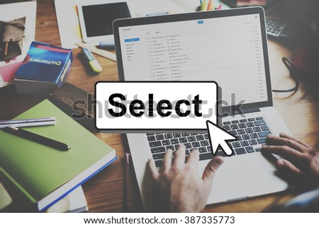 Select Pick Selecting Compare Selection Targeting Concept - stock photo