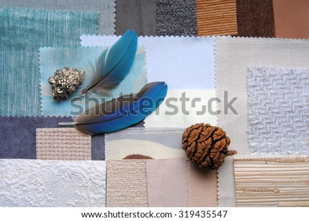 selection color for interior decorating - stock photo